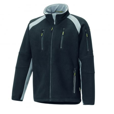 Fleece Jacke 8765 schwarz/grau