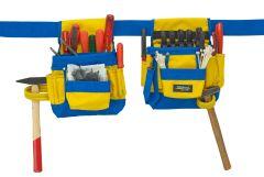 Doppelte Werkzeugtasche 2656 gelb/blau