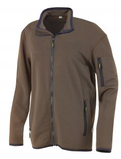 Hr. Powerstretch Jacke 8741 braun