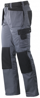 Arbeitshose Colour grau/schwarz