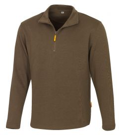 Zip-Sweatshirt Martigny braun