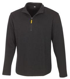 Zip-Sweatshirt Martigny schwarz