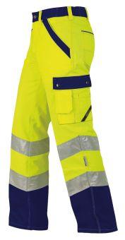 Hr.Arbeitshose ISO20471 1232 gelb/mari.