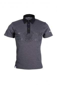 Polo-Shirt SCL grau meliert